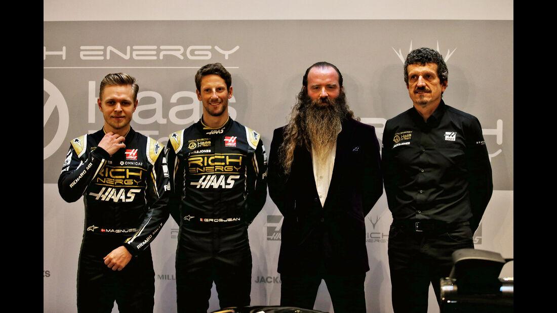 Romain Grosjean, Kevin Magnussen, Guenther Steiner & William Storey -  Haas F1 - Formel 1 - 2019