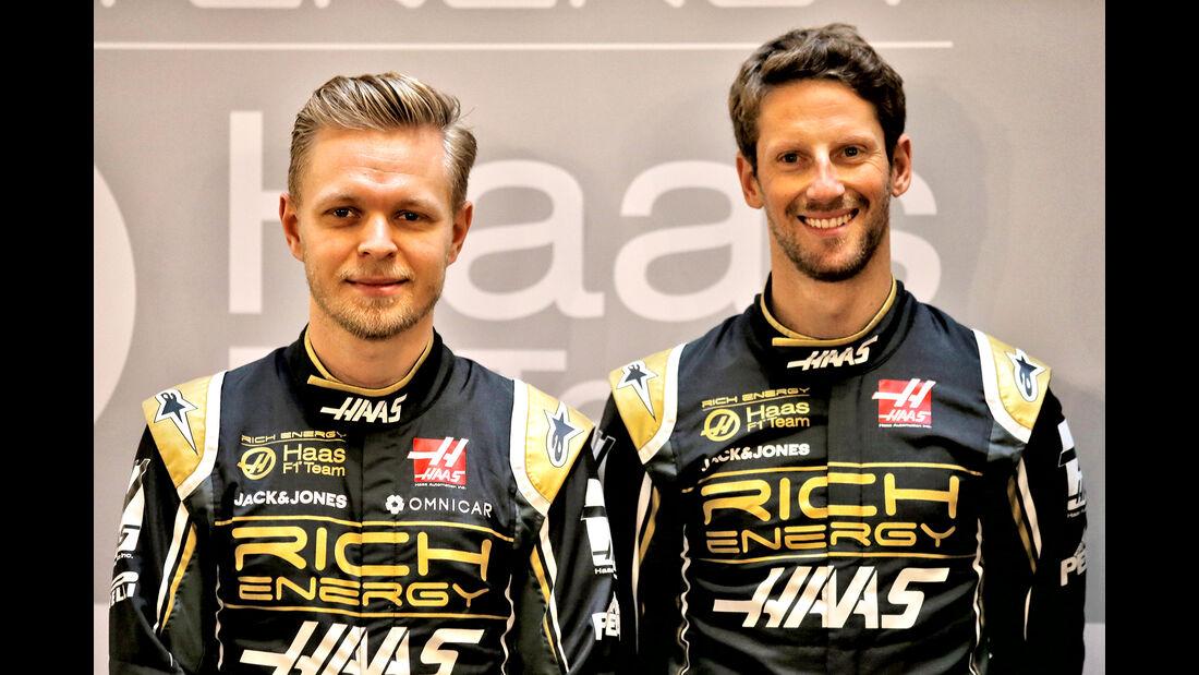 Romain Grosjean & Kevin Magnussen -  Haas F1 - Formel 1 - 2019