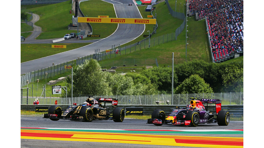 Romain Grosjean - Lotus - Danill Kvyat - Red Bull - GP Österreich - Formel 1 - Sonntag - 21.6.2015