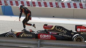 Romain Grosjean - Lotus - Formel 1 - Bahrain-Test 2014