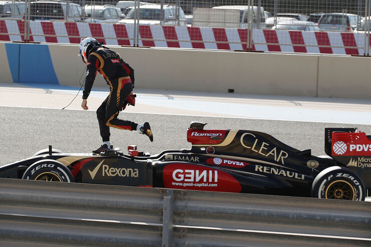 Romain Grosjean - Lotus - Formel 1 - Bahrain-Test 2014