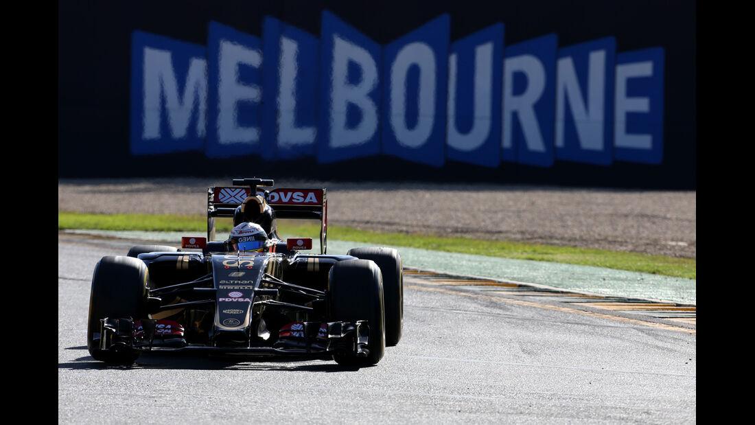 Romain Grosjean - Lotus - Formel 1 - GP Australien - 13. März 2015