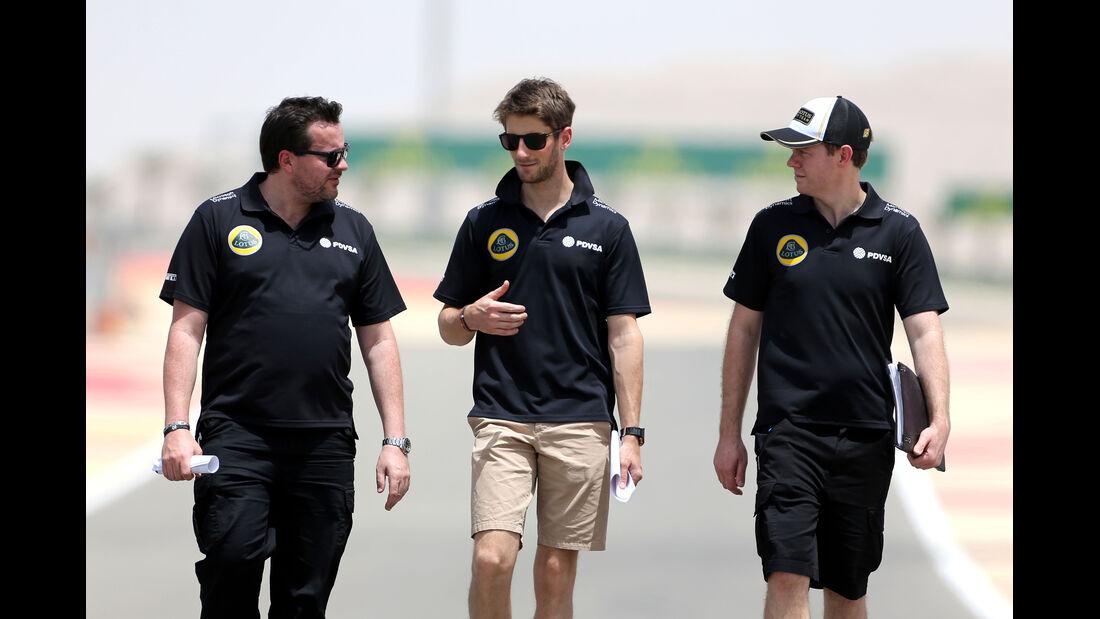 Romain Grosjean - Lotus - Formel 1 - GP Bahrain - 16. April 2015