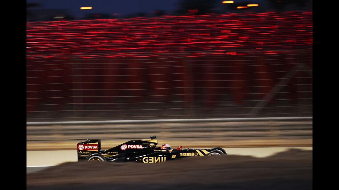 Romain Grosjean - Lotus - Formel 1 - GP Bahrain - 18. April 2015