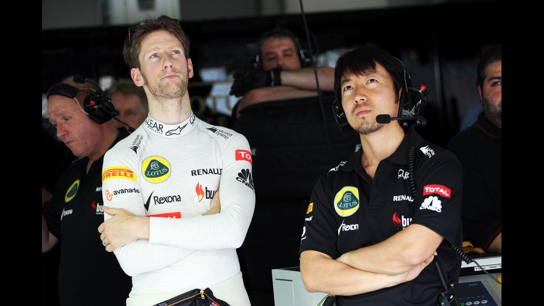 Romain Grosjean - Lotus - Formel 1 - GP Bahrain - 19. April 2013