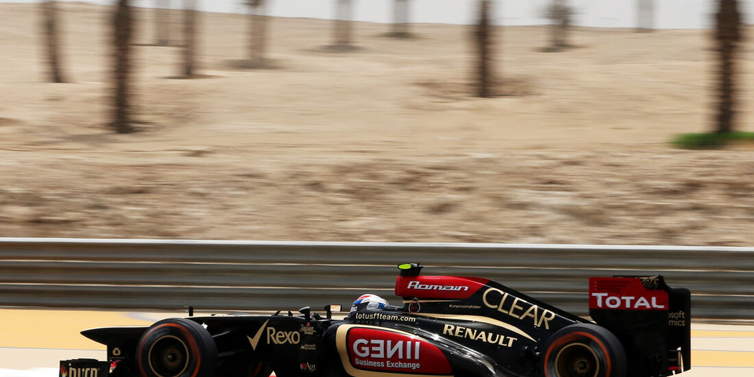 Romain Grosjean - Lotus - Formel 1 - GP Bahrain - 19. April 2013