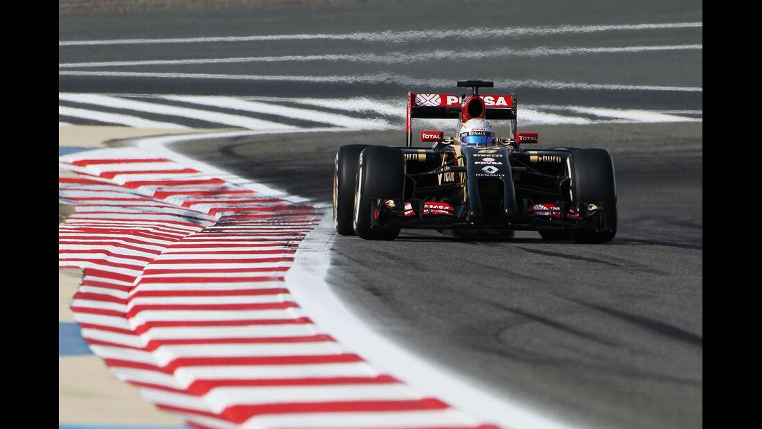 Romain Grosjean - Lotus - Formel 1 - GP Bahrain - Sakhir - 4. April 2014