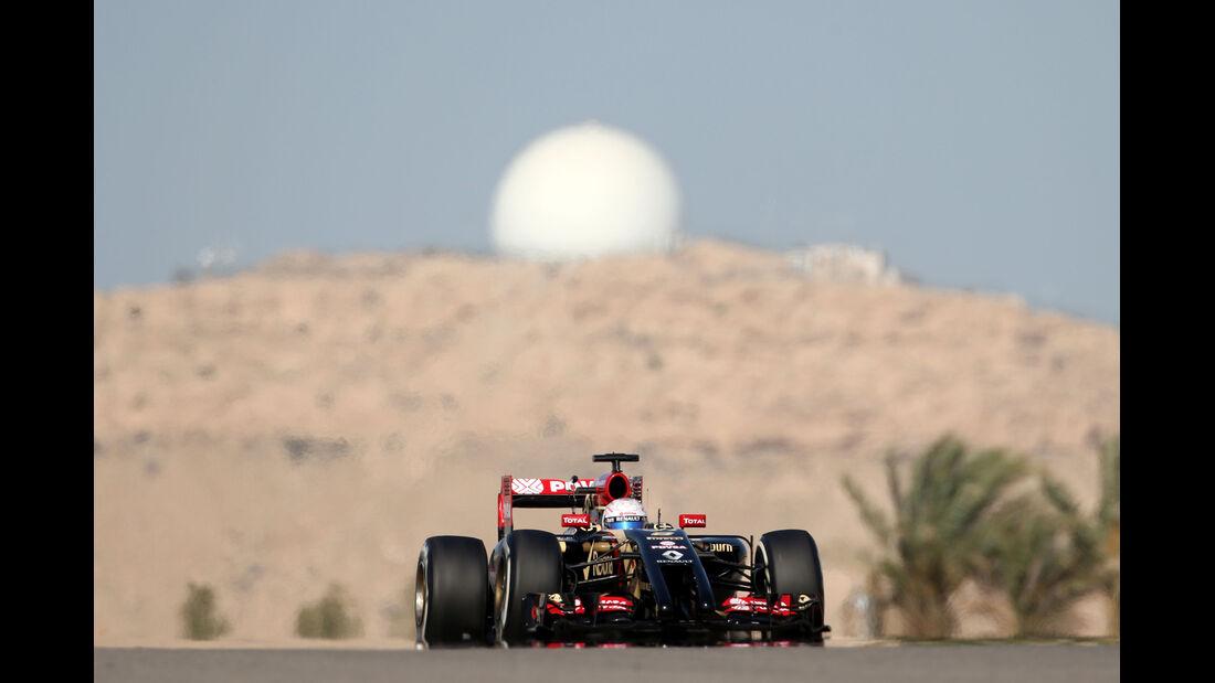 Romain Grosjean - Lotus - Formel 1 - GP Bahrain - Sakhir - 5. April 2014