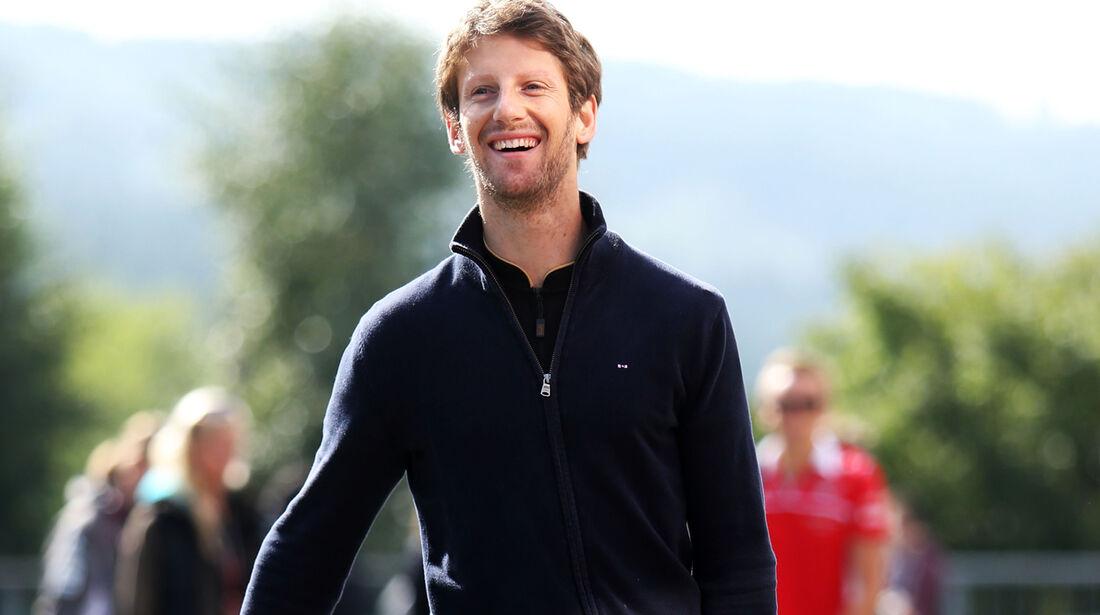 Romain Grosjean - Lotus - Formel 1 - GP Belgien - Spa-Francorchamps - 21. August 2014
