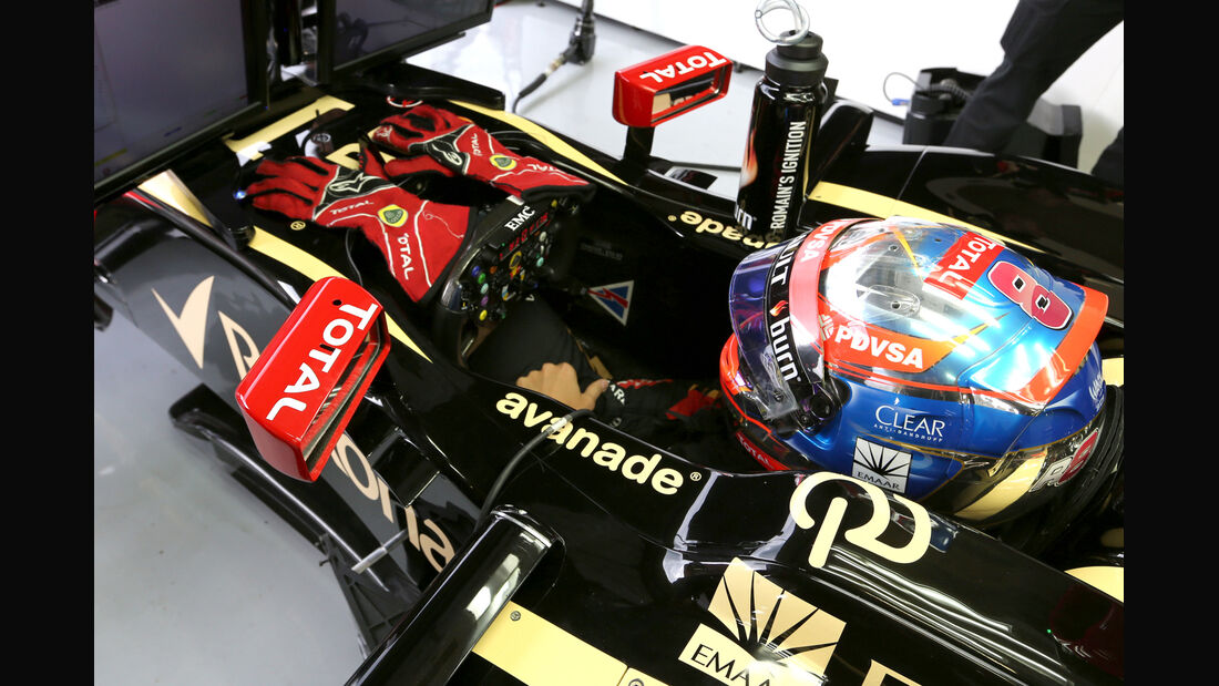 Romain Grosjean - Lotus - Formel 1 - GP Belgien - Spa-Francorchamps - 22. August 2014