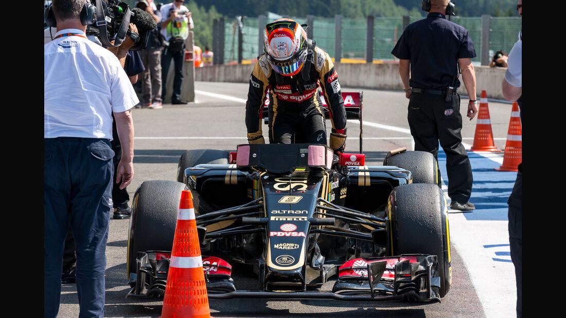 Romain Grosjean - Lotus - Formel 1 - GP Belgien - Spa-Francorchamps - 22. August 2015