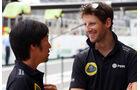 Romain Grosjean - Lotus - Formel 1 - GP Brasilien- 12. November 2015