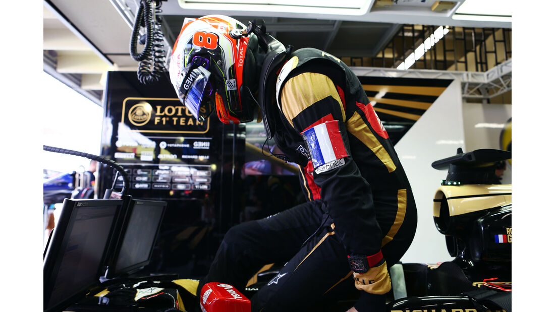 Romain Grosjean - Lotus - Formel 1 - GP Brasilien- 14. November 2015