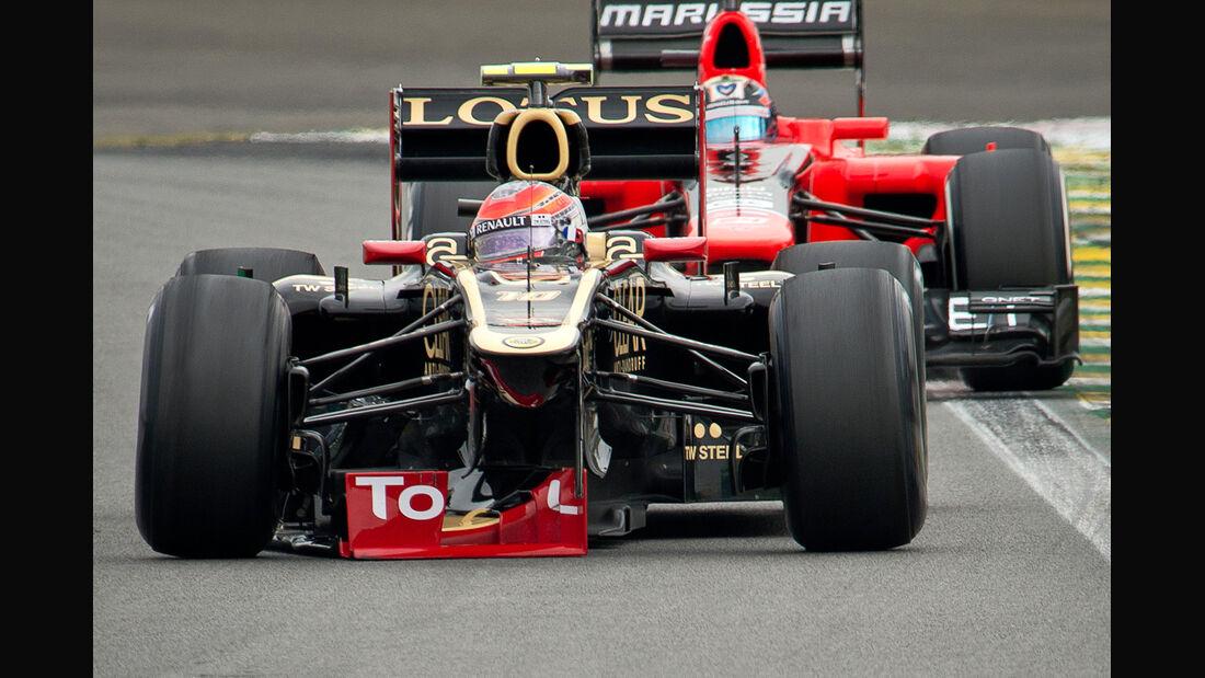 Romain Grosjean - Lotus - Formel 1 - GP Brasilien - Sao Paulo - 24. November 2012