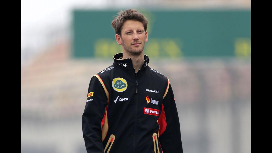 Romain Grosjean - Lotus - Formel 1 - GP China - Shanghai - 17. April 2014