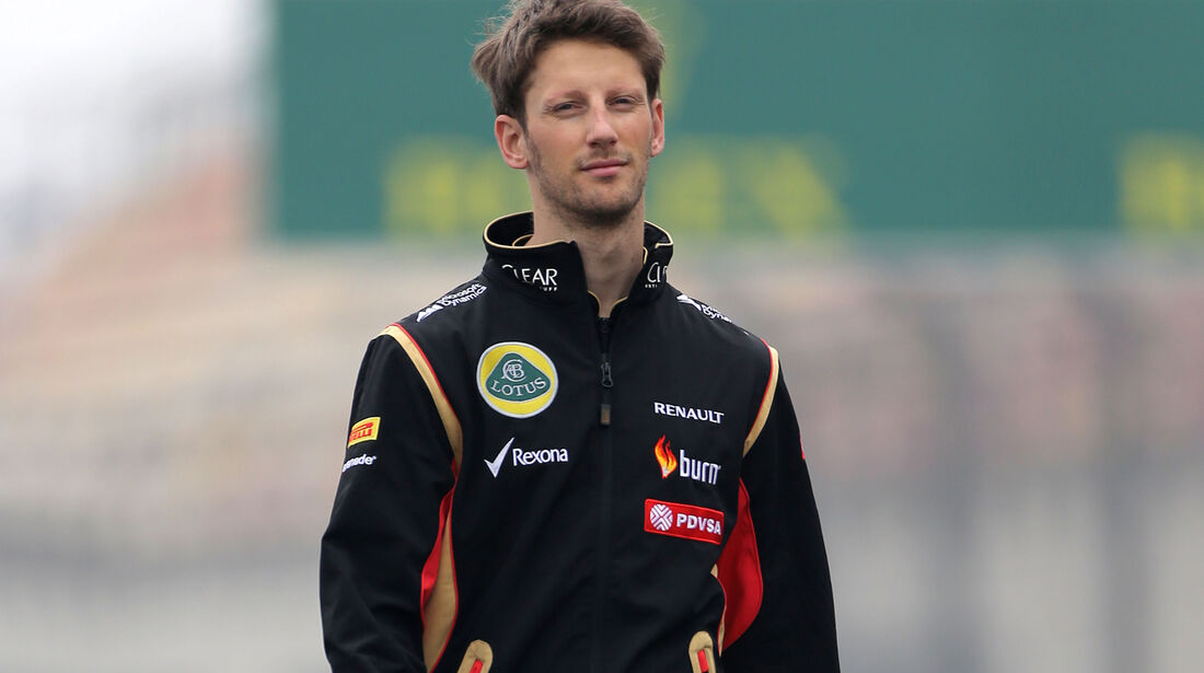 Romain Grosjean - Lotus - Formel 1 - GP China - Shanghai - 17. April 2014