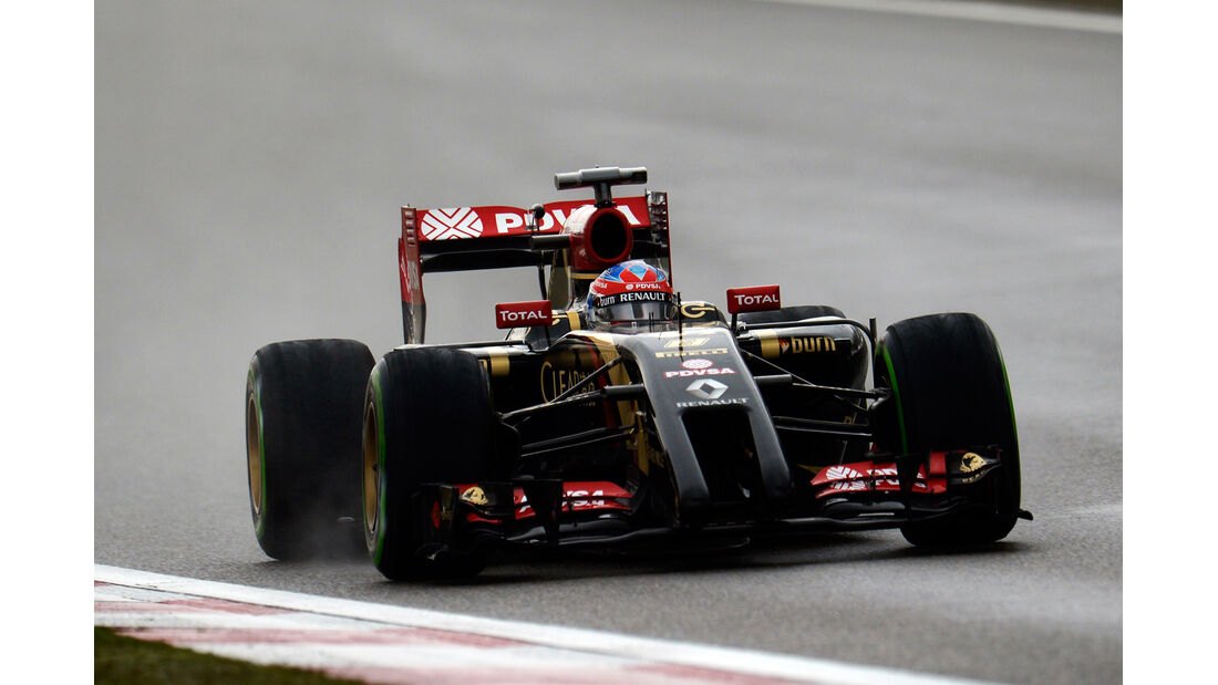 Romain Grosjean - Lotus - Formel 1 - GP China - Shanghai - 19. April 2014