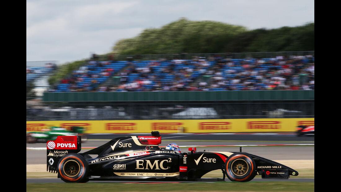 Romain Grosjean - Lotus - Formel 1 - GP England  - Silverstone - 4. Juli 2014