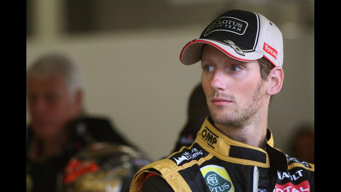 Romain Grosjean - Lotus - Formel 1 - GP England - Silverstone - 6. Juli 2012