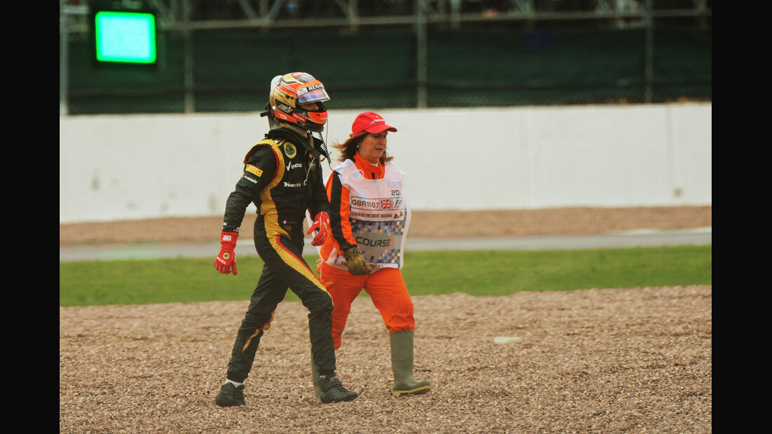 Romain Grosjean - Lotus - Formel 1 - GP England - Silverstone - 7. Juli 2012