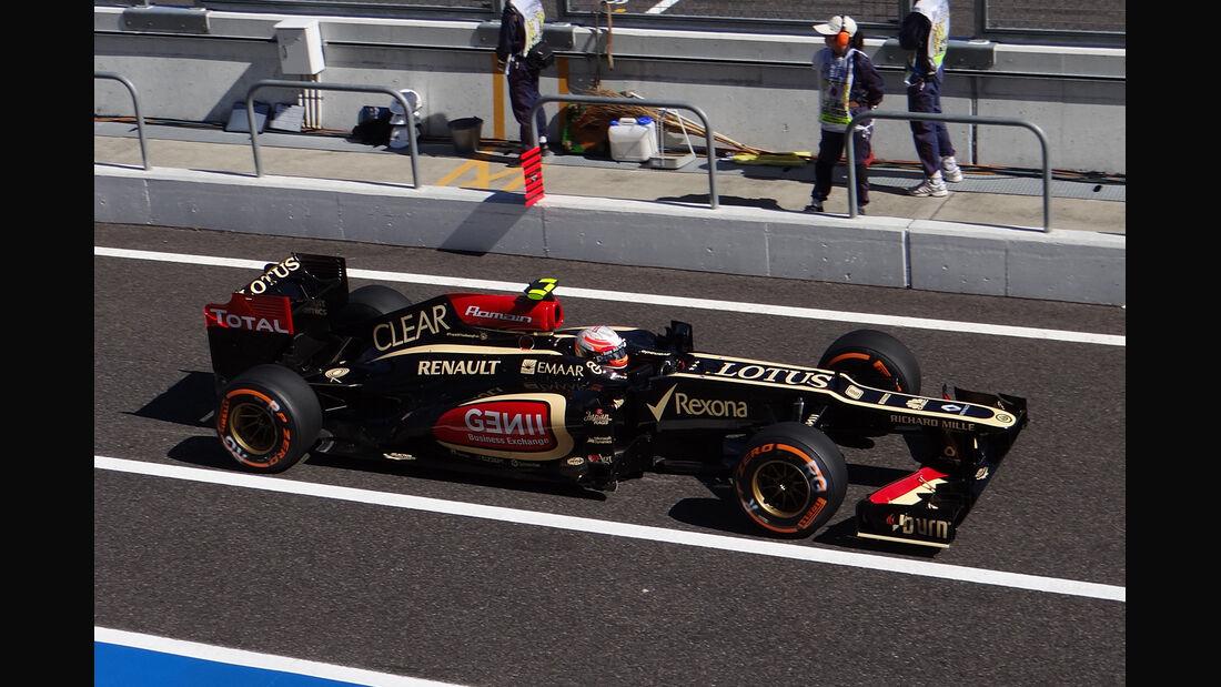 Romain Grosjean - Lotus - Formel 1 - GP Japan 2013