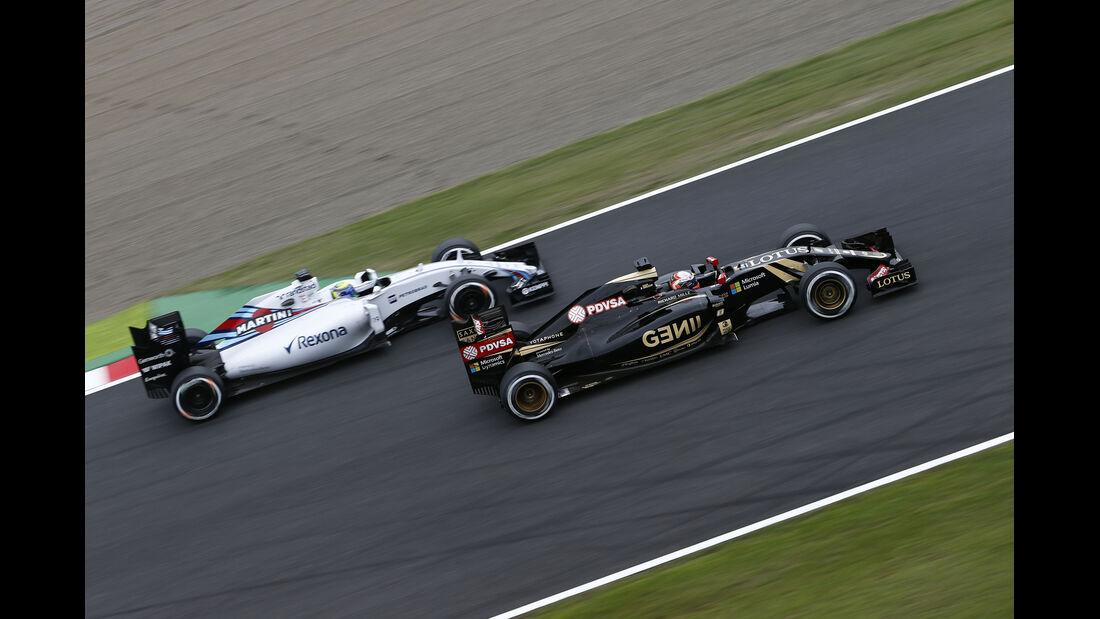 Romain Grosjean - Lotus - Formel 1 - GP Japan - Suzuka - 26. September 2015