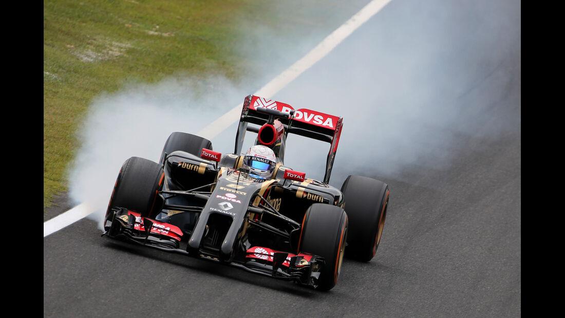 Romain Grosjean - Lotus - Formel 1 - GP Japan - Suzuka - 4. Oktober 2014