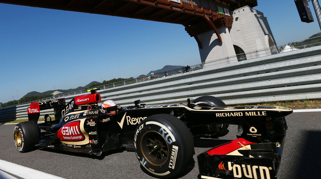 Romain Grosjean - Lotus - Formel 1 - GP Korea - 4. Oktober 2013