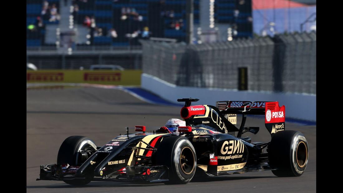 Romain Grosjean - Lotus - Formel 1 - GP Russland - 10. Oktober 2014