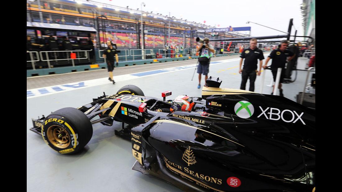 Romain Grosjean - Lotus - Formel 1 - GP Singapur - 18. September 2015