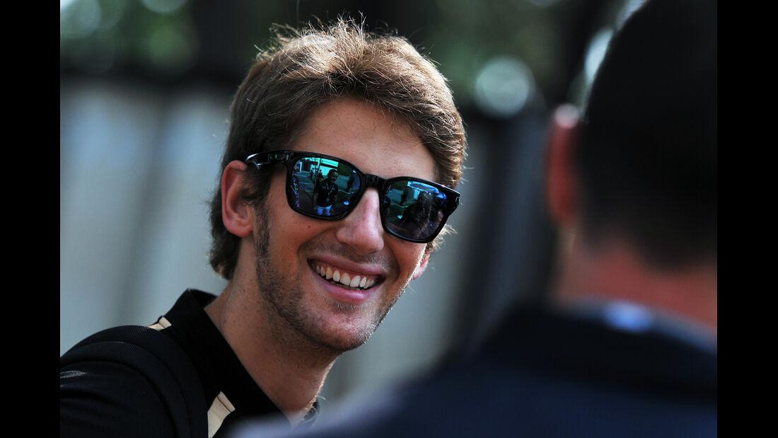 Romain Grosjean - Lotus - Formel 1 - GP Singapur - 20. September 2012