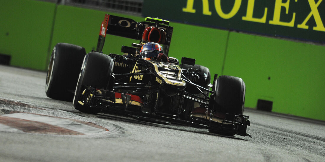 Romain Grosjean - Lotus - Formel 1 - GP Singapur - 20. September 2013