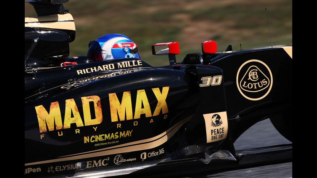 Romain Grosjean - Lotus - Formel 1 - GP Spanien - Barcelona - 8. Mai 2015