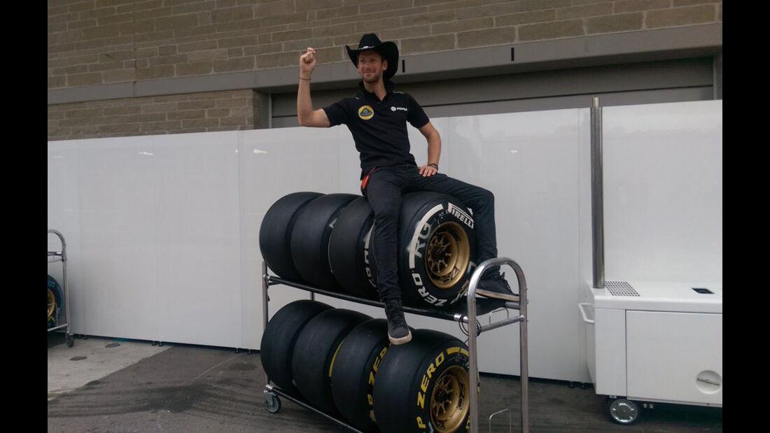 Romain Grosjean - Lotus - Formel 1 - GP USA - Austin - 22. Oktober 2015