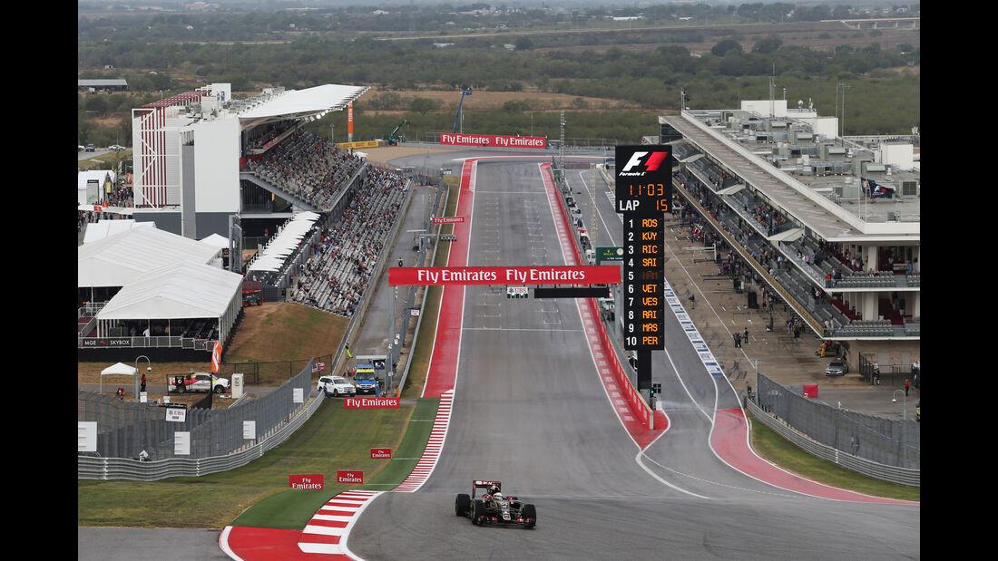 Romain Grosjean - Lotus - Formel 1 - GP USA - Austin - 23. Oktober 2015