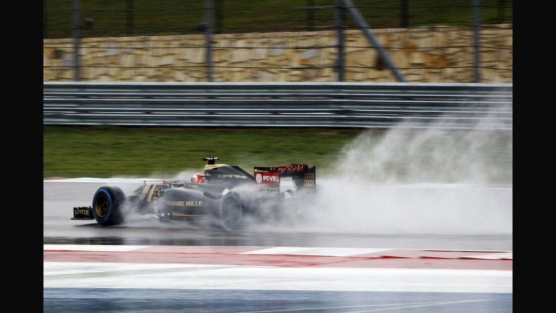 Romain Grosjean - Lotus - Formel 1 - GP USA - Austin - Formel 1 - 24. Oktober 2015