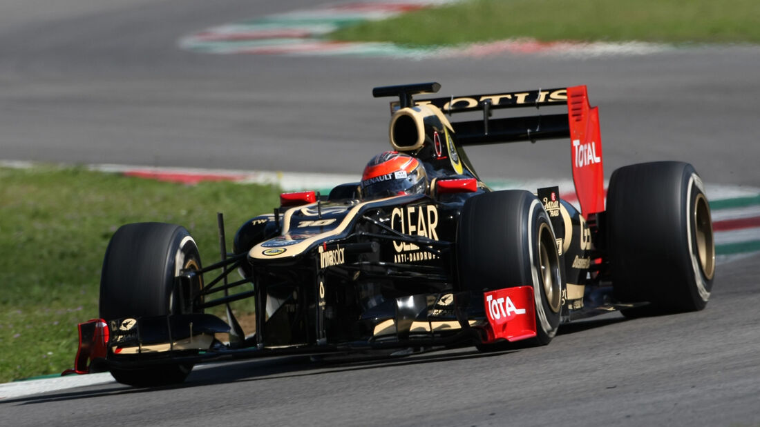 Romain Grosjean Lotus Formel 1 Mugello Test 2012