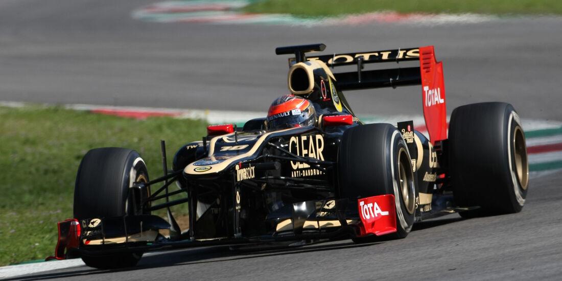 Romain Grosjean Lotus Formel 1 Mugello Test 2012