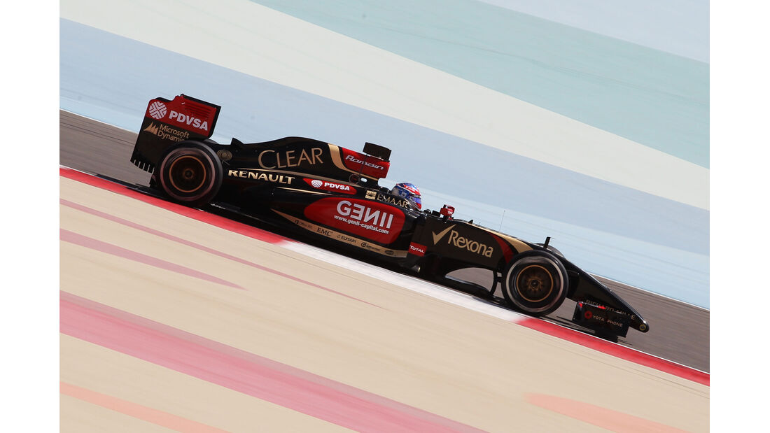 Romain Grosjean - Lotus - Formel 1 - Test - Bahrain - 1. März 2014