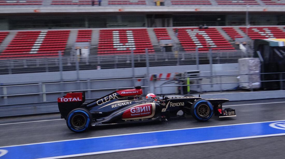 Romain Grosjean - Lotus - Formel 1 - Test - Barcelona - 1. März 2013