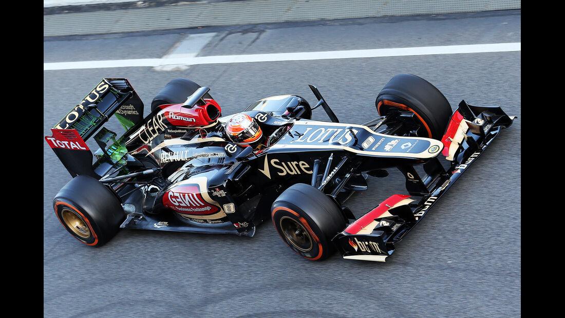 Romain Grosjean - Lotus - Formel 1 - Test - Barcelona - 2. März 2013
