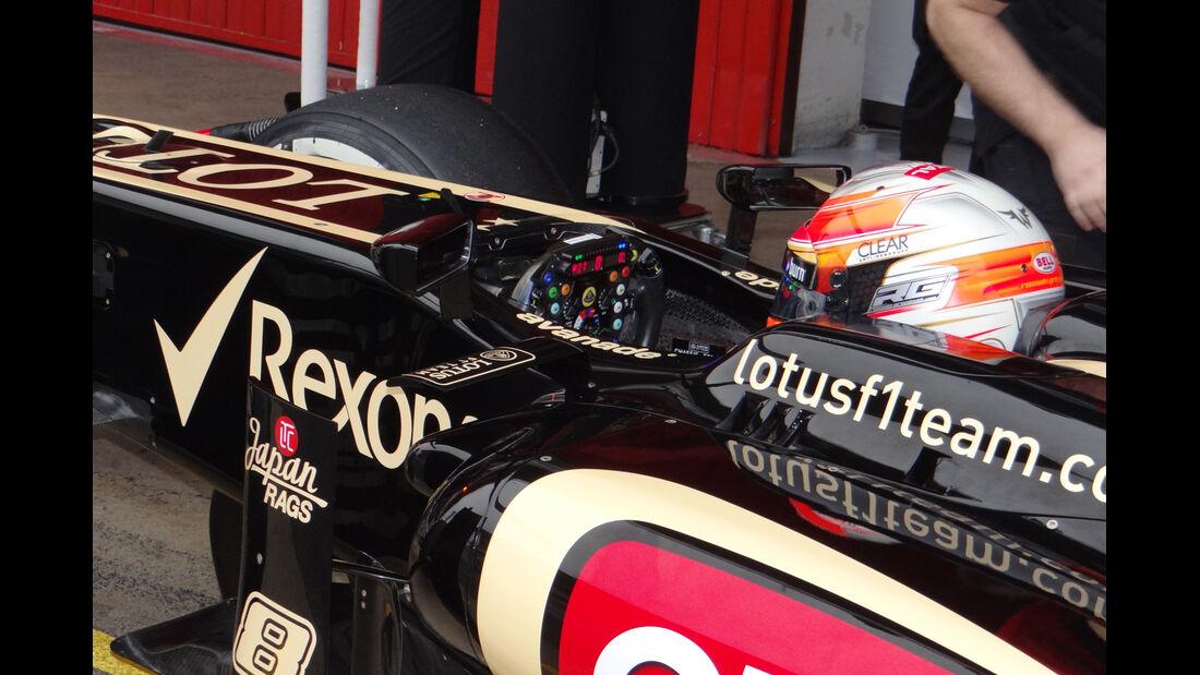 Romain Grosjean - Lotus - Formel 1 - Test - Barcelona - 21. Februar 2013
