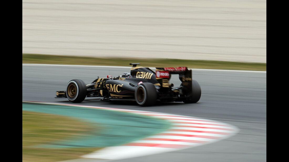 Romain Grosjean - Lotus  Formel 1-Test - Barcelona - 26. Februar 2015