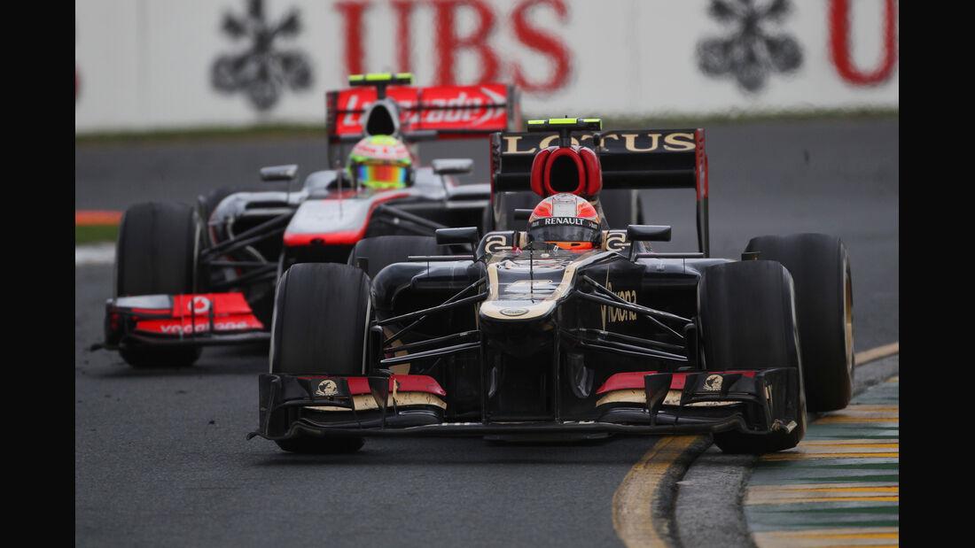 Romain Grosjean Lotus GP Australien 2013