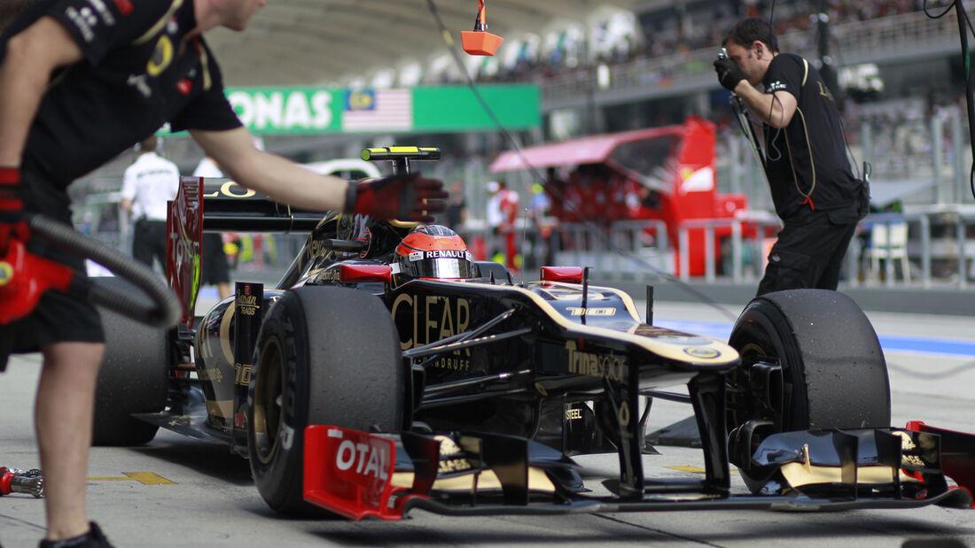 Romain Grosjean - Lotus - GP Malaysia 2012