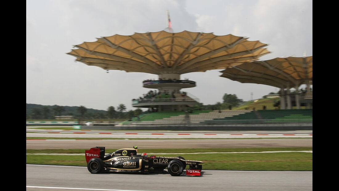 Romain Grosjean - Lotus - GP Malaysia - Training - 23. März 2012