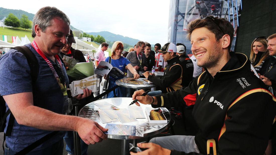 Romain Grosjean - Lotus - GP Österreich - Formel 1 - Donnerstag - 18.6.2015