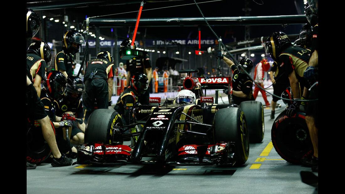Romain Grosjean - Lotus - GP Singapur 2014