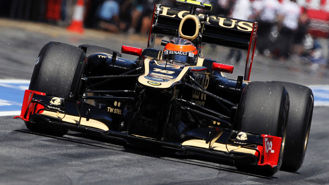 Romain Grosjean Lotus GP Spanien 2012