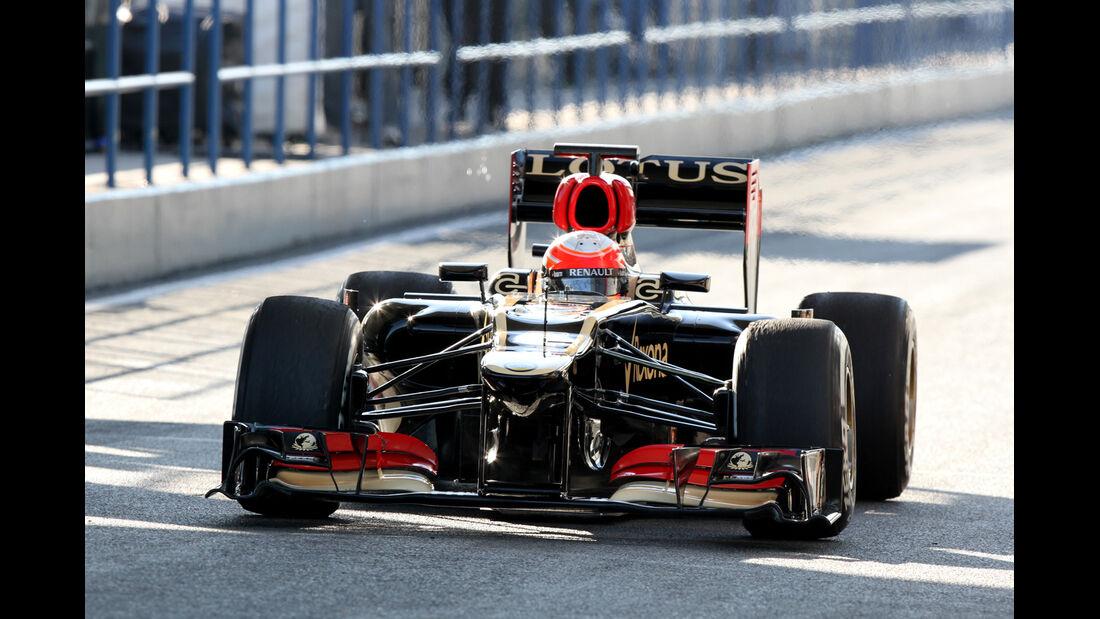 Romain Grosjean, Lotus Renault GP, Formel 1-Test, Jerez, 6.2.2013